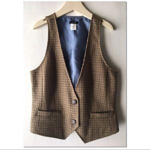 🐎 J. Crew equestrian houndstooth vest